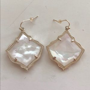 Ivory Pearl and Gold Kendra Scott Earrings